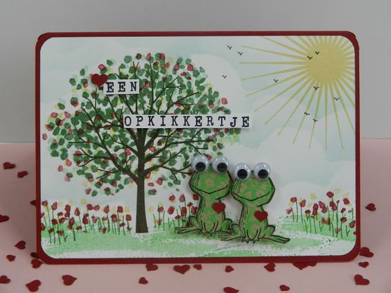 Stamp-ing: Nieuwe Hostess-set: 'Love You Lots' samen met 'Sheltering Tree' van Stampin'Up!  www.stamp-ing.blogspot.nl: