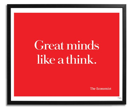 Great minds like a think — Simple, witty ads for The Economist [10 pictures]...: