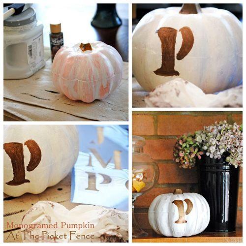 Paint a Dollar Tree pumpkin...great, cheap idea!