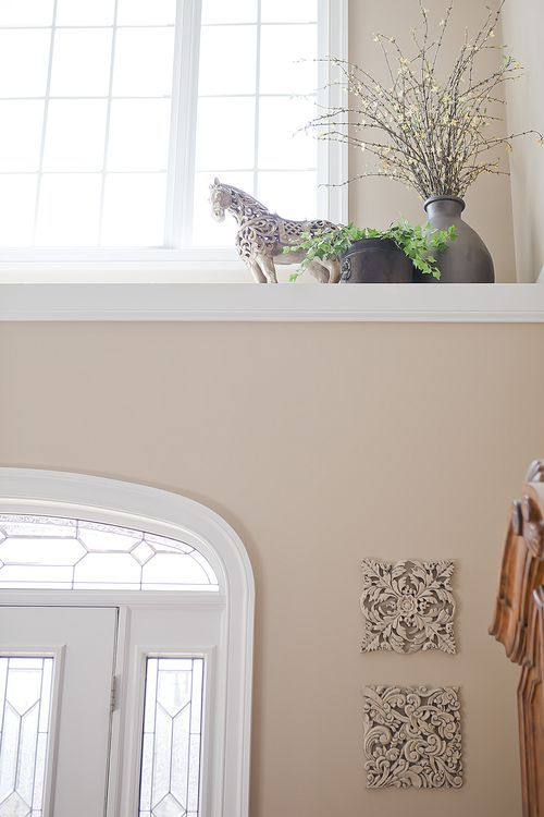 Foyer Window Ledge Decor : How to decorate a high ledge in front foyer i have