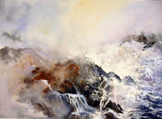 Ocean Rage Painting  - Lynne Parker