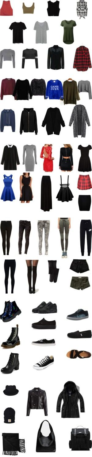 Casual Alternative Capsule Wardrobe by meox on Polyvore