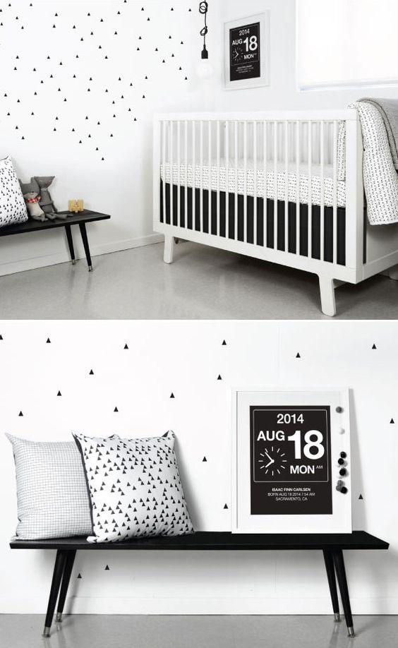 Beautiful black and white nursery.