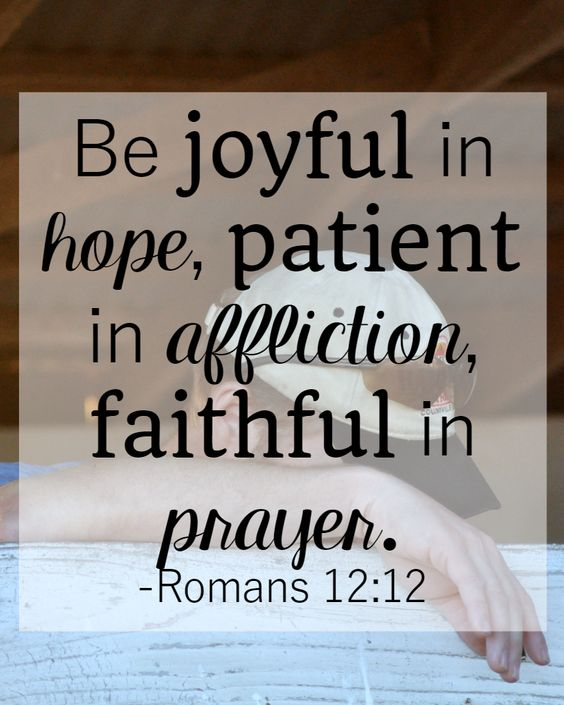Bible Verses About Patience: Romans 12:12