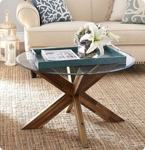 X Base Clock Coffee Table Round Glass Coffee Table Coffee Table