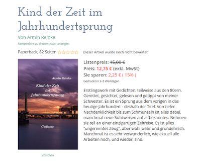 Mein erstes Buch ist zum Druck freigegeben, bei Lulu.com