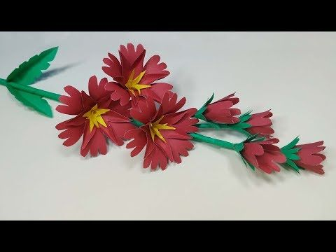 Paper Stick Flower Easy Way To Make Paper Flower Diy Paper