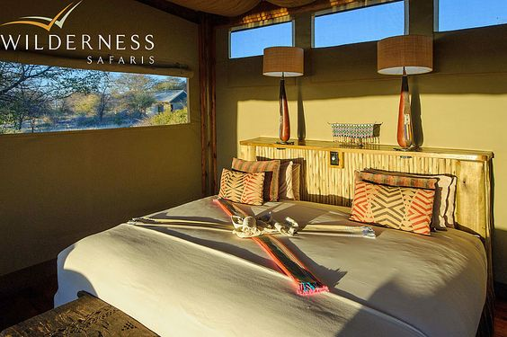 Kalahari Plains Camp - The rooms are connected to the environment with magical views. #Safari #Africa #Botswana #WildernessSafaris