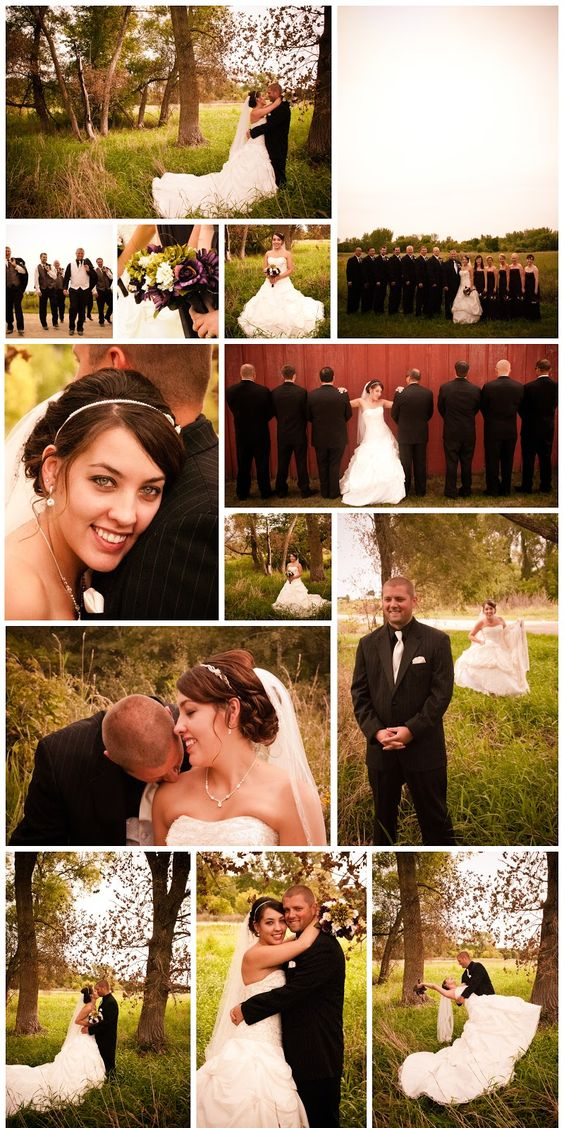 Love the closeup of the bride with her head on his shoulder and the bride with all the groomsmen.
