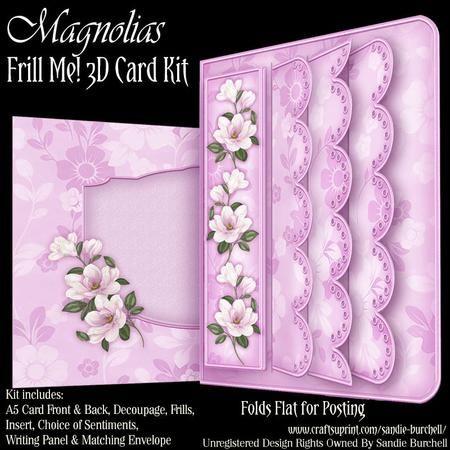 Magnolias Frill Me! 3D Card Kit