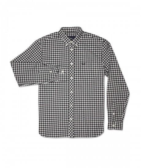 Brushed Gingham Men's Long Sleeve Shirt   $128.00