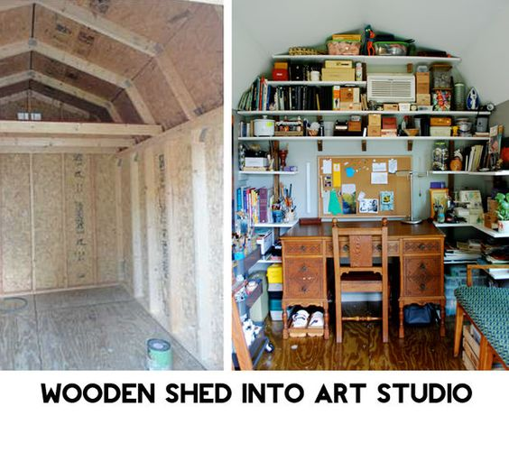 Wood Shed Into Epic Art Studio Pictures Of Art Studios