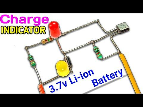3 7v Lithium Battery Full And Low Level Indicator Circuit Battery Level Indicator Youtube Electronic Circuit Projects Electronics Circuit Circuit