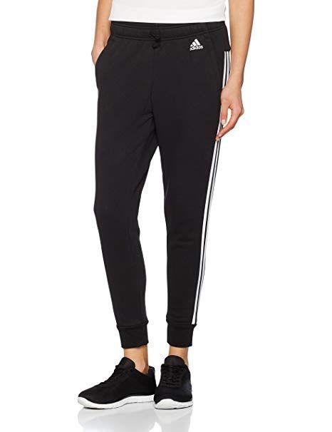 Adidas Damen Essentials 3 Streifen Tapered Hose Schwarz Black White Xl Adidas Klamotten Manner Und Frauen Kleidung