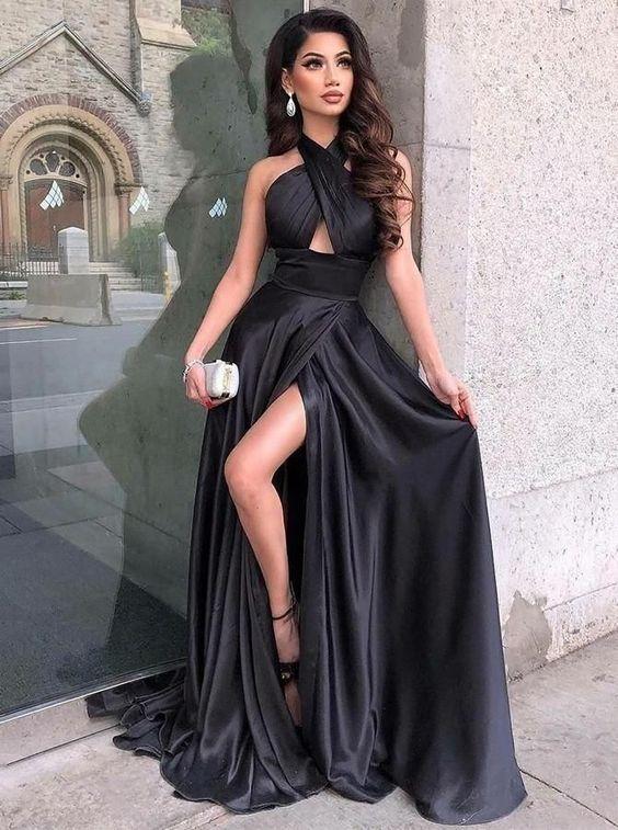 Vestido de formatura preto diferente