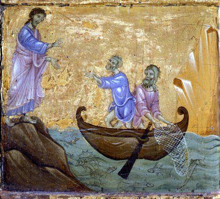 Guido di Graziano 1400 Chiamata di Pietro e Andrea (Siena, Pinacoteca Nazionale)