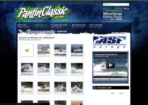 web pantín classic 2010 wqs 6*  campeonato del mundo de surf  www.pantinclassic.com