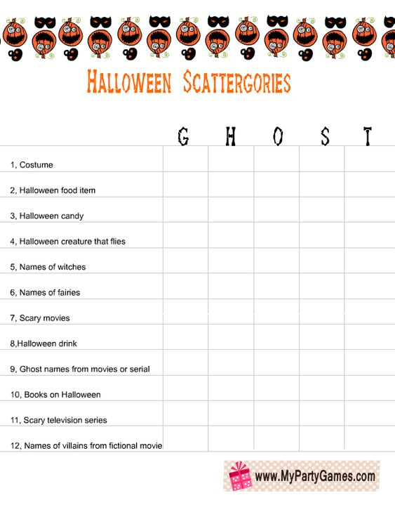 Free Printable Scattergories inspired Christmas Game
