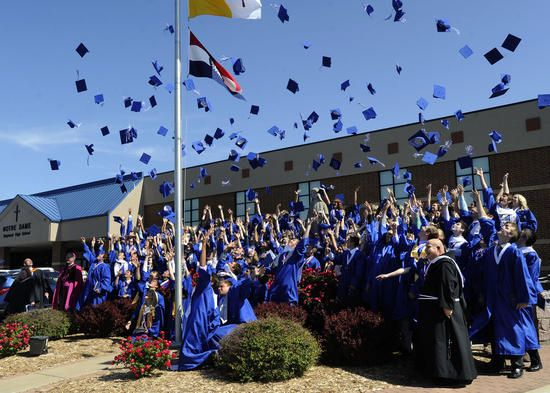 Notre Dame Regional High School held its graduation May 18, 2014, at the school. #graduation