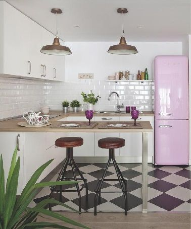 La cuisine vintage s 39 affirme en d co tendance d co de cuisine google e - Deco vintage cuisine ...