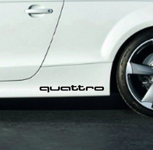 Audi Quattro A3 A4 A5 A6 A8 S4 S5 S6 Rs4 Q3 Q5 Q7 Tt Decal Sticker Emblem Logo B Audi Car Decals Stickers Car Mirror Cover