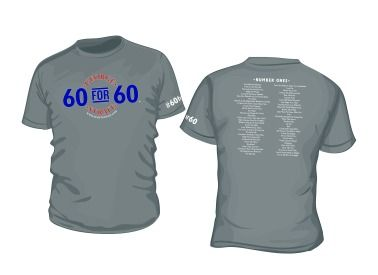 """""""60 for 60"""" T-Shirt  http://www.myplaydirect.com/george-strait/60-for-60-t-shirt/details/28155224?cid=social-pinterest-m2social-product_country=US=share_campaign=m2social_content=product_medium=social_source=pinterest"""