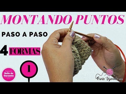Montando Puntos A Dos Agujas De 4 Formas Fácil Y Rápido Curso Básico A Dos Agujas Youtube Punto Dos Agujas Tejer Dos Agujas Patucos Crochet
