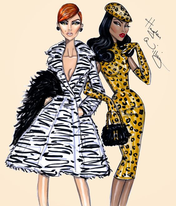 #Hayden Williams Fashion Illustrations #'Wild Things' by Hayden Williams