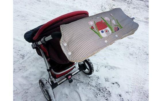 Kinderwagenmuffs - warmer Kinderwagenmuff Muff Pilz-Wiese - ein Designerstück von me-kinderkleidung-und-ersatzbezuege bei DaWanda