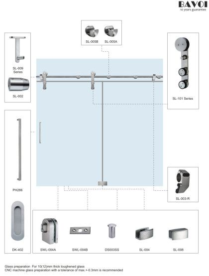 Lucky-Sliding door system manufacturer for shower room
