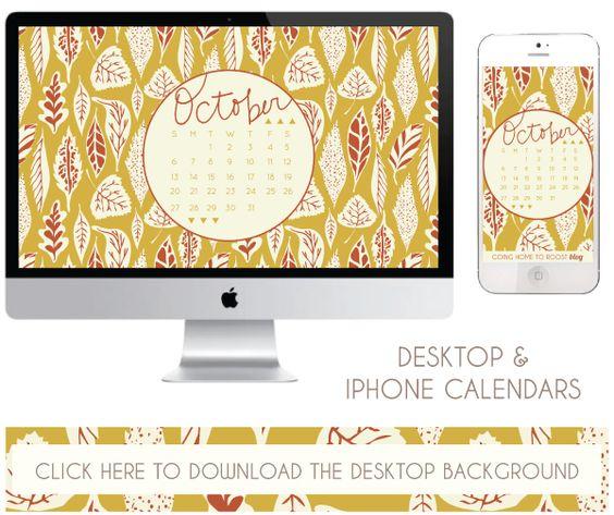 October Calendar Wallpaper Iphone : October desktop iphone calendars free download my
