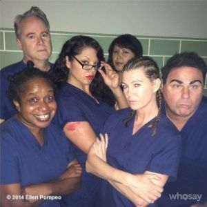 """The """"Grey's Anatomy"""" cast poses as the """"Orange Is the New Black"""" crew! Two of my favorite shows!"""