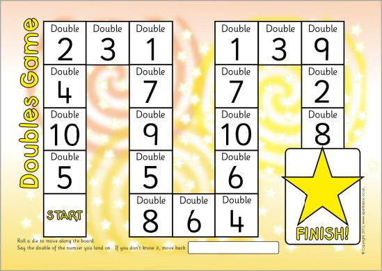 FREE Doubles/doubling board game (to double 10) (SB7197 ...