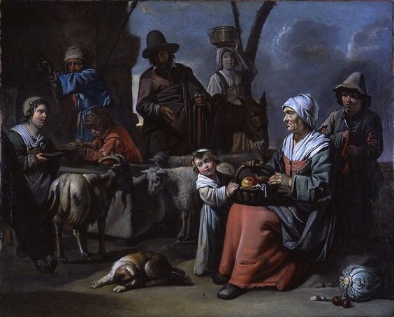 circle  Le Nains brothers developed a distinctive mode of genre painting related to the Bamboccianti in Italy, but with a Virgilian or Horatian admiration for the peasantry that was itself