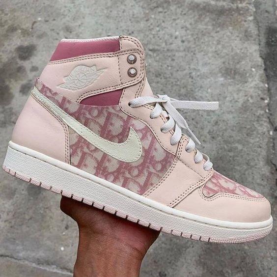 Nike Air Jordan1 X Dior (Pink) in 2021 | Hype shoes, Jordan shoes ...
