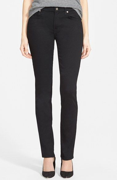 7 For All Mankind® 'Kimmie' Straight Leg Jeans (Luxe Black) available at #Nordstrom