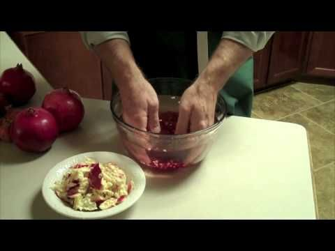 How to open Pomegranates the safe and clean way!