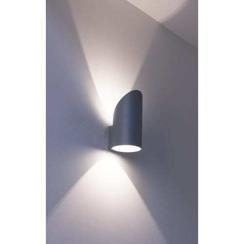 Up Downlight 1 Flammig Wapato 17 Stories Schirmfarbe Schwarz Wandleuchte