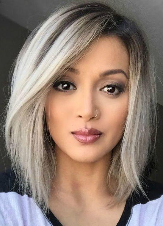 50 Medium Bob Hairstyles For Women Over 40 In 2019 Medium Bob