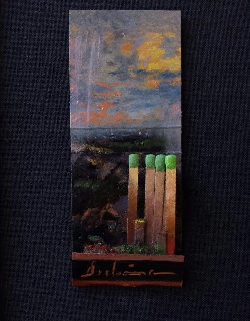 """""""Deluge"""" by Michael Dubina """"Education is our only safety. Outside of this Ark, All is Deluge."""" From the Matchbook Series Day 148, 2015"""
