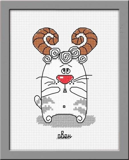 Набор для вышивания Овен 832 Кошачий гороскоп Овен