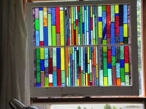 stained glass window treatmentChicago by stanfordglassshop on Etsy, $410.00