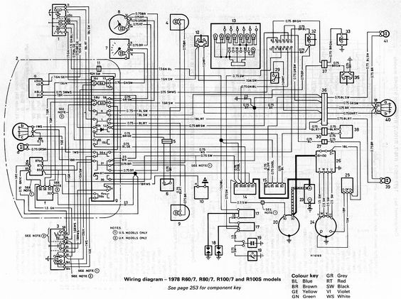BMW 1984 R807 Wiring Diagram Chassis Wire Harness R Airhead