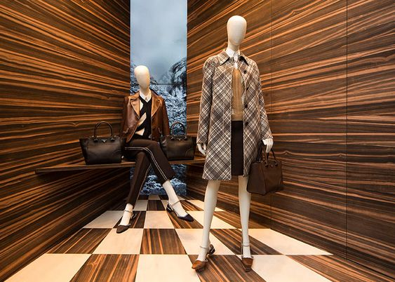 Martino Gamper plays with perspective for Prada windows