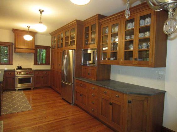 Quarter Sawn Oak cabinets and quartz counter tops