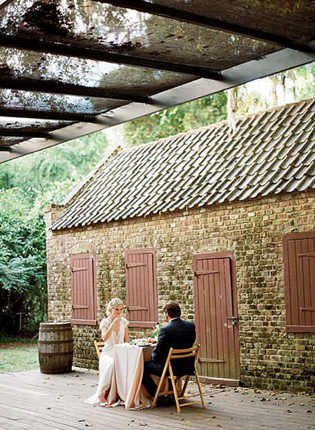 The wedding was held at Boone Hall, a 333-year-old plantation outside Charleston, South Carolina. (Photo Credit: Marni Rothschild) #SouthernWeddings