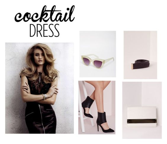 """Cocktail Dress"" by blonde-4 ❤ liked on Polyvore featuring Etiqueta Negra, Missguided and ASOS"