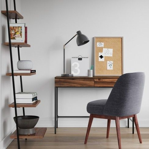 Loring Wood Writing Desk With Drawers Project 62 Leaning Bookcase Writing Desk With Drawers Wood Writing Desk