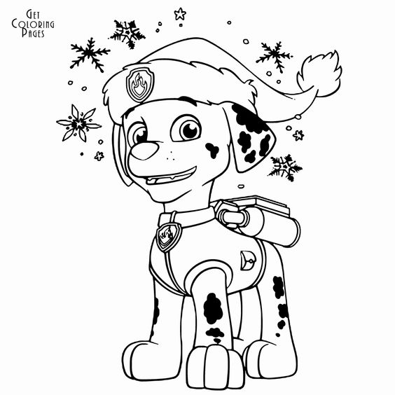 Paw Patrol Marshall Coloring Page Unique Weihnachten Paw Patrol Malvorlagen Marshall Weihnac Paw Patrol Coloring Paw Patrol Coloring Pages Paw Patrol Christmas