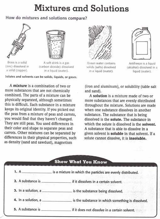 Printables Mixtures And Solutions Worksheets unit 2 matter we worksheets and science mixtures vs solutions of canning love this pin at